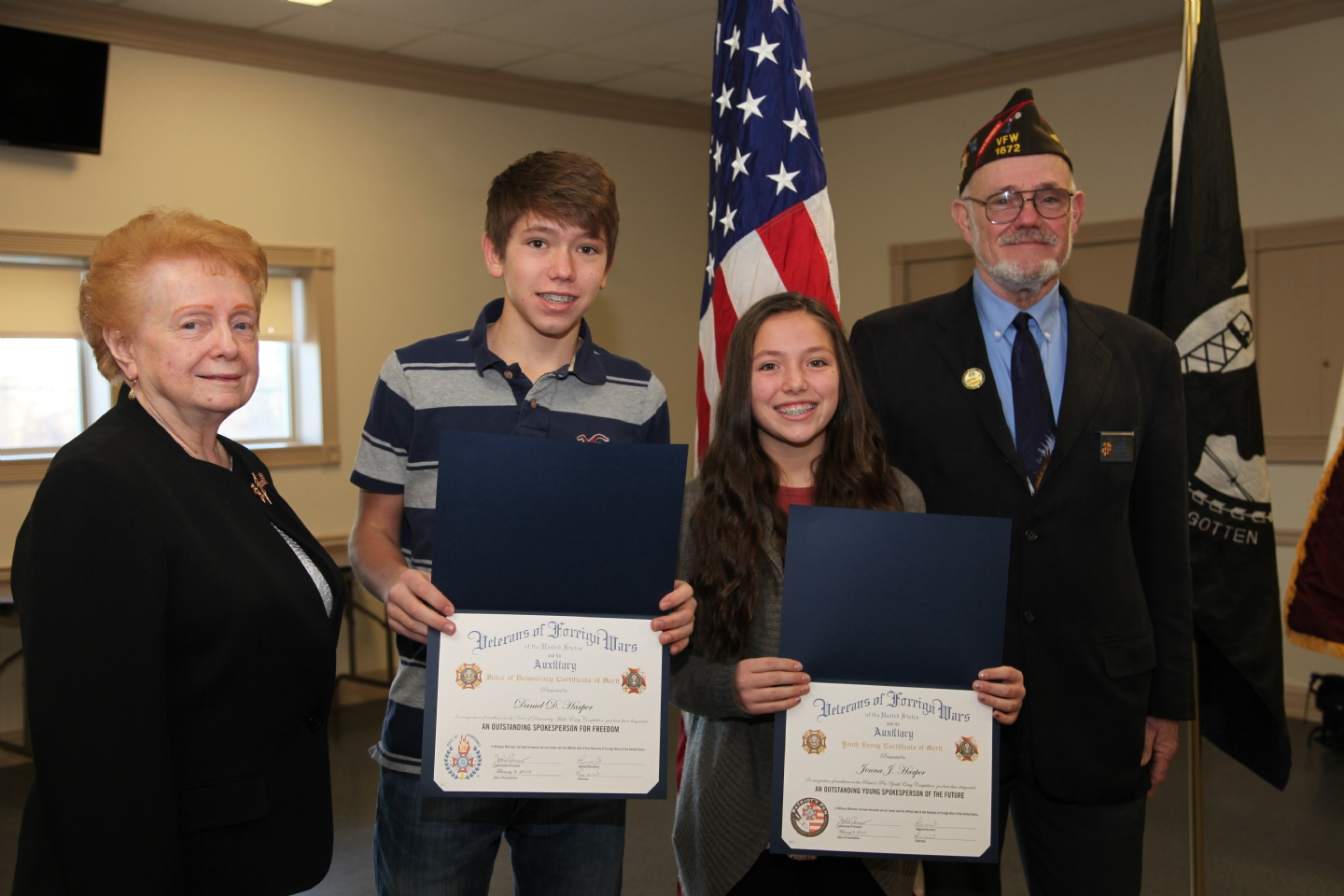 Siblings Daniel Harper, a 9th grade home schooler and his sister, Jenna Harper, an 8th grade home schooler, both of East Hartford, won Third and First places, respectively, in the two essay contests.